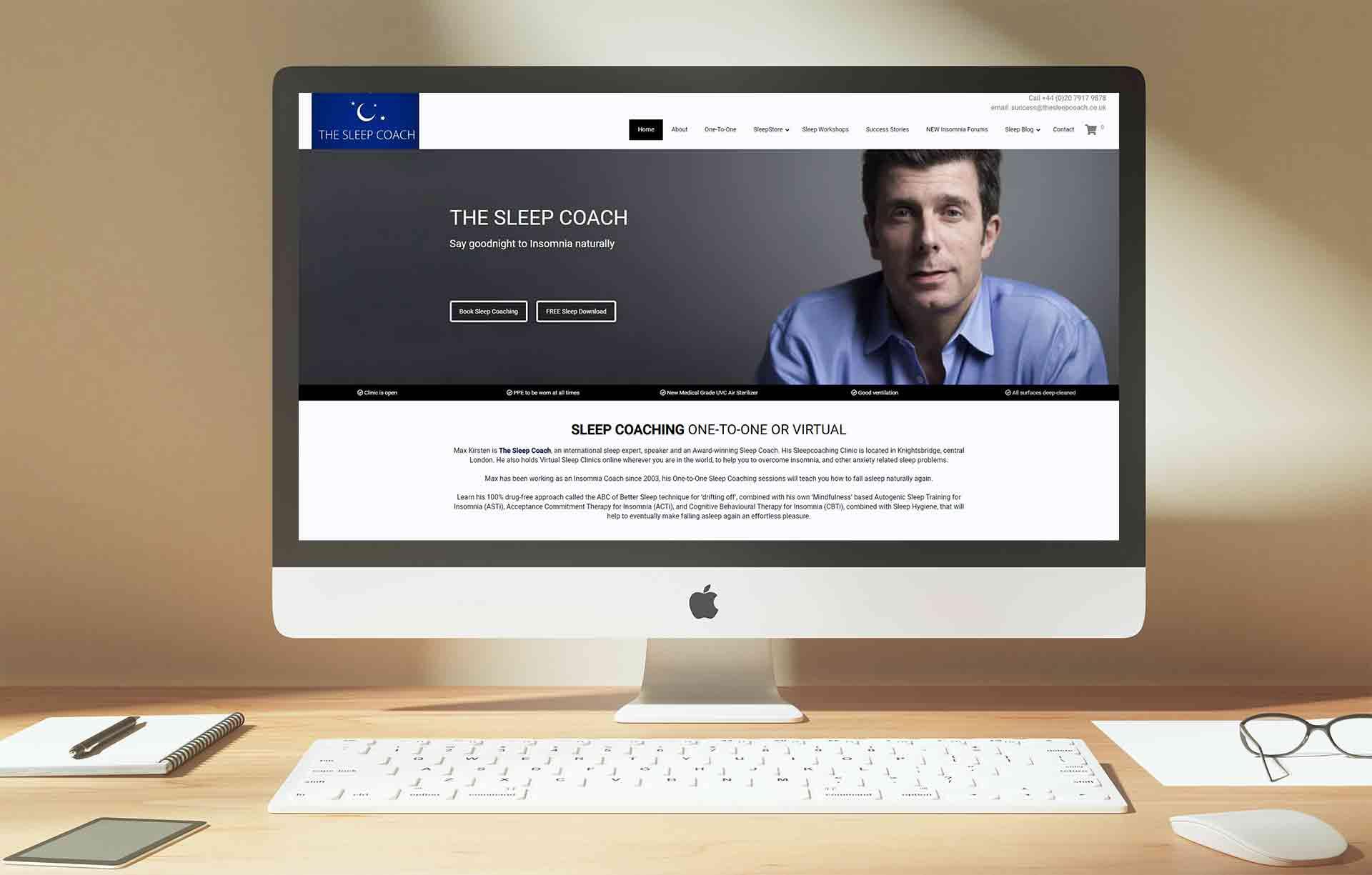 Web Design For Sleep Coaching